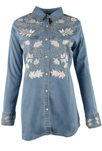 Vintage Collection Orson Denim Western Shirt - Front