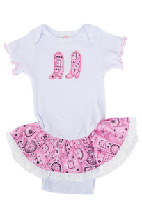 Infant - Girls Western Onesie - Front