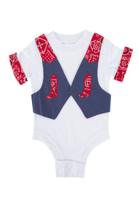 Infant - Boys Denim Onesie - Front