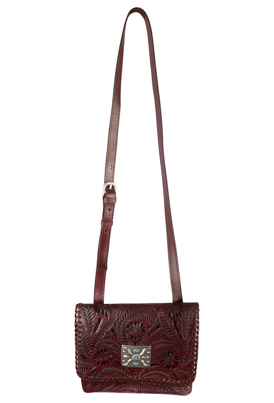 American West Grand Prairie Flap Bag - Red - Front