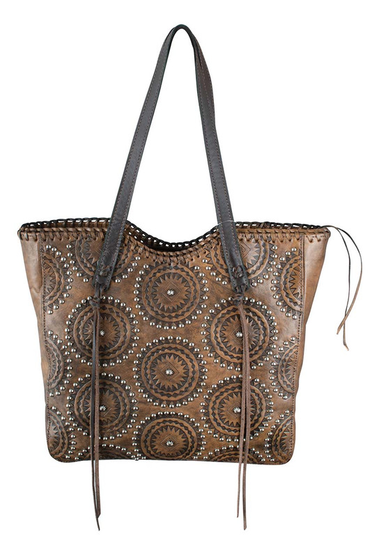 American West Kachina Spirit Large Zipper Tote - Front