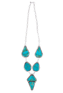 Turquoise Moon Dean Sandoval Turquoise Necklace and Earring Set - Necklace