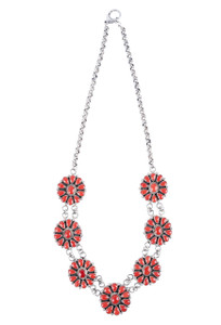 Turquoise Moon Coral Necklace and Earring Set - Necklace