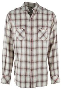 Ryan Michael Sonora Desert Plaid Snap Shirt - Mesquite - Front