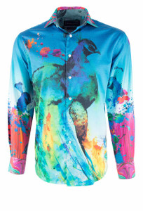 David Smith Australia Limited Edition Peacock Shirt - Front