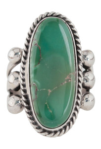 Turquoise Moon Green Turquoise Ring - Size 7 - Front