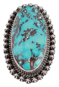 Turquoise Moon Royston Turquoise Oval Ring - Size 9 3/4 - Front