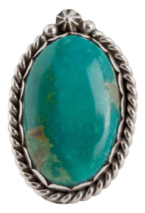 Turquoise Moon Green Turquoise Ring - Size 8 - Front