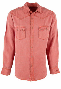 Ryan Michael Sawtooth Pick Stitch Snap Shirt - Apache