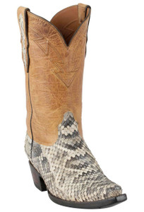 Black Jack for Pinto Ranch Men's Natural Eastern Rattlesnake Boots