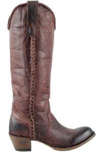 Lane Women's Wine Plain Jane Boots - Side