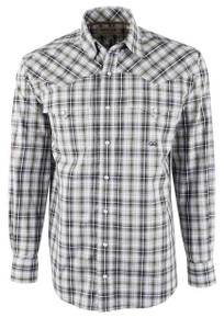 Miller Ranch Gray and Black Plaid Snap Shirt  - Front