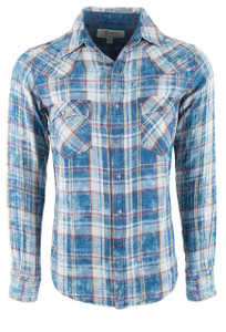 Ryan Michael Sand Cloud Wash Double Face Plaid - Front