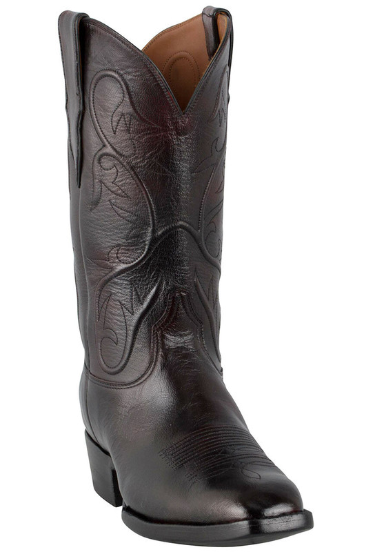 Black Jack For Pinto Ranch Men S Black Cherry Goat Boots