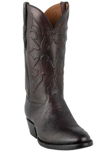 Black Jack for Pinto Ranch Men's Black Cherry Smooth Ostrich Boots -Hero