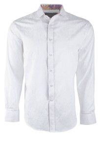 David Smith Australia Solid White Jacquard Shirt
