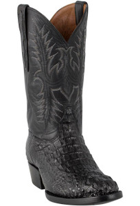 Black Jack for Pinto Ranch Men's Black Matte Hornback Caiman Headcut Boots