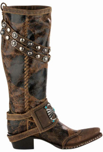 Double D Ranch by Old Gringo Bow Guard Boots - Side