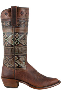 Rios of Mercedes Women's Coffee Santa Fe Embossed Bison Boots - Side