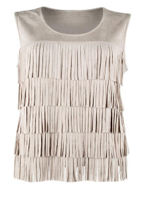 Joh Layered Fringe Top - Front