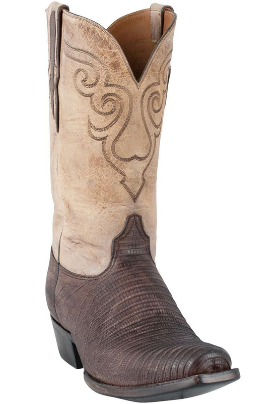 Black Jack for Pinto Ranch Men's Chocolate Sanded Lizard Boots