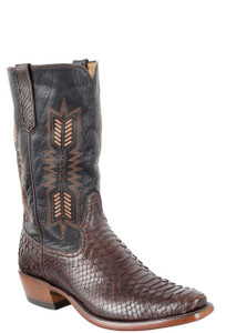 Rios of Mercedes Men's Brown Python Boots