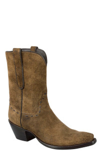 Stallion Women's Vintage Camel Distressed Lamb Suede Boots