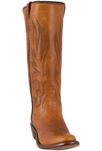 Rios of Mercedes Women's Tan Goat Stovepipe Boots