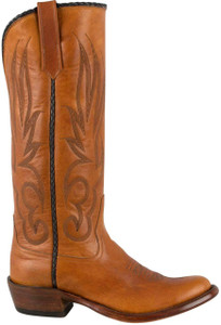 Rios of Mercedes Women's Tan Goat Stovepipe Boots - Side