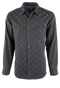 Ryan Michael Diamond Jacquard Snap Shirt - Buffalo - Front