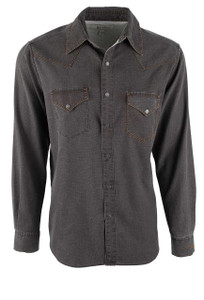 Ryan Michael Distressed Waffle Western Snap Shirt - Buffalo - Front