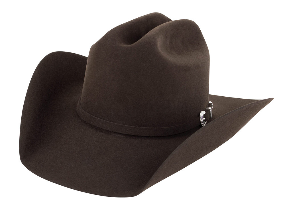 American Hat Co. 7X Lucky Cattleman Felt Hat - Chocolate - Side