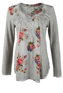 Gretty Zueger Mid Floral Insert Top - Front