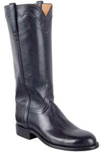 Lucchese Women's Navy Burnished Baby Buffalo Roper Boots