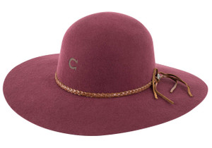 Charlie 1 Horse Free Spirit Hat - Burgundy - Side