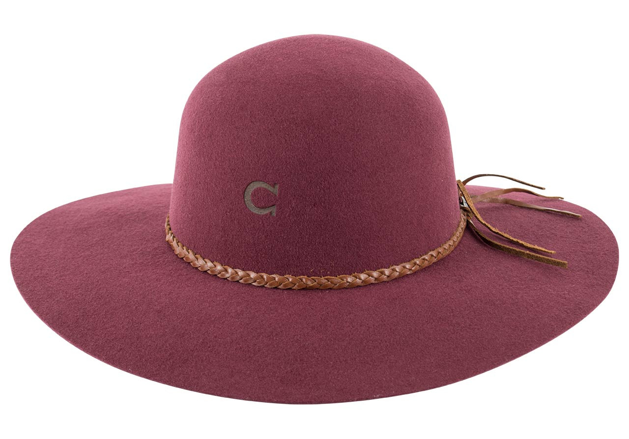 Charlie 1 Horse Free Spirit Hat - Burgundy - Front  sc 1 st  Pinto Ranch & Charlie 1 Horse Free Spirit Hat - Burgundy - Pinto Ranch