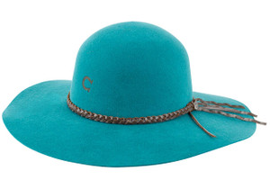 Charlie 1 Horse Free Spirit Hat - Teal - Side
