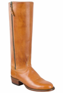 Lucchese Women's Sand Burnished Baby Buffalo Zipper Boots - Hero