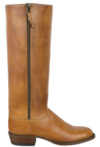 Lucchese Women's Sand Burnished Baby Buffalo Zipper Boots - Side