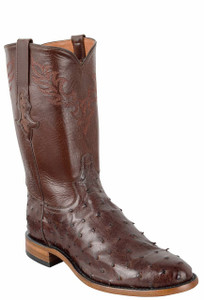 Tony Lama Signature Series Men's Kango Tobacco Full-Quill Ostrich Roper Boots