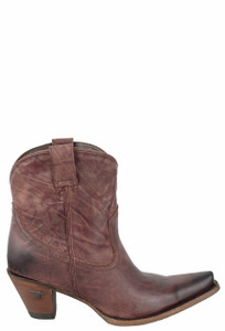 Lane Women's Wine Julia Shortie Boots - Side