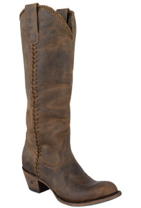 Lane Women's Distressed Brown Plain Jane Boots