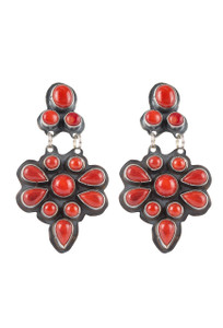 Rocki Gorman Red Coral Bonita Earrings