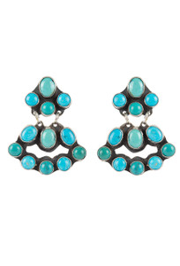Rocki Gorman Blue and Green Turquoise Mini Chandelier Earrings