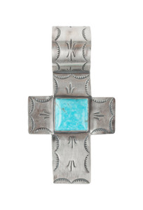 Rocki Gorman Single Stone Cross Pendant - Front