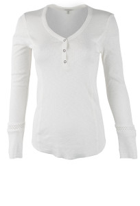 Pajamas - Solid Ivory Top - Front
