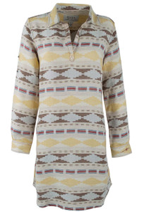 Ryan Michael Blanket Jacquard Dress - Front