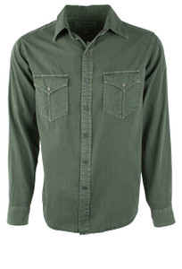 Ryan Michael Textured Stripe Snap Shirt - Ranger - Front