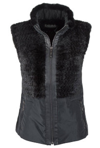 Diomi Knitted Mink Vest - Front