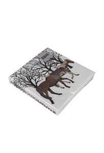 Winter Horses Beverage Napkins